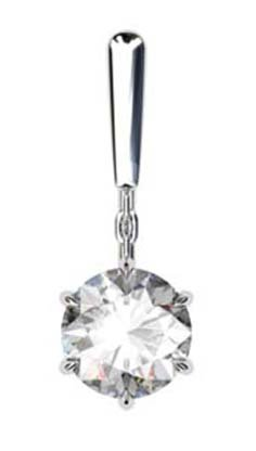 1.5Ct Round Brilliant Cut Solitaire Diamond Drop Earrings 3 2