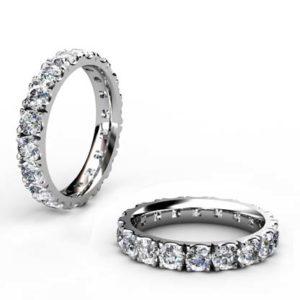 10 Point Diamond Eternity Wedding Band 1