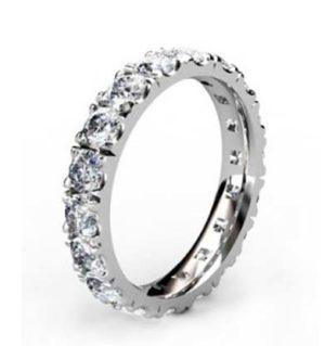 10 Point Diamond Eternity Wedding Band 2