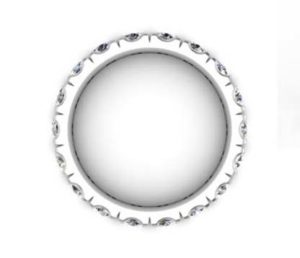 10 Point Diamond Eternity Wedding Band 3