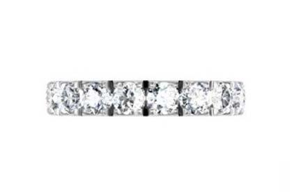 10 Point Diamond Eternity Wedding Band 4