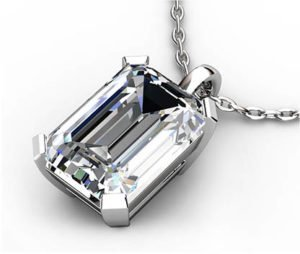 2Ct Emerald Cut Diamond Pendant 3 2