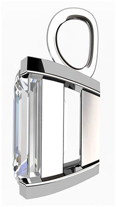 2Ct Emerald Cut Diamond Pendant 4 2
