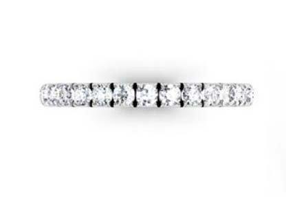 3 quarters set cut down diamond set wedding ring 2