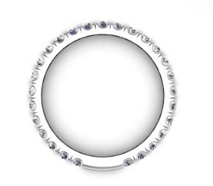 3 quarters set cut down diamond set wedding ring 3