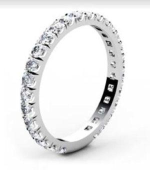 3 quarters set cut down diamond set wedding ring 4