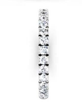 3 quarters set cut down diamond set wedding ring 5