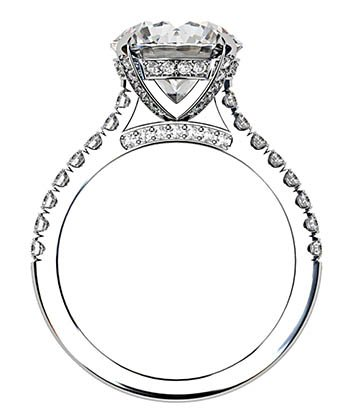 3.5Ct Diamond Ring with Diamond Set Claws and Band 3 2