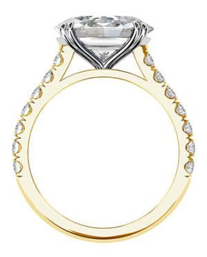 3Ct Oval Diamond Ring Set in Yellow Gold 3 2