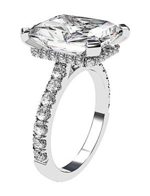 5Ct Emerald Cut Diamond Ring 4 2