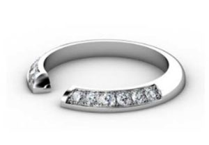 Angled Diamond Fitted Wedding Ring 2