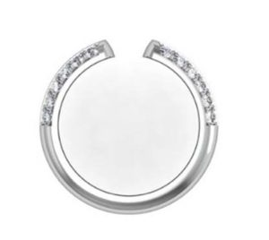 Angled Diamond Fitted Wedding Ring 3