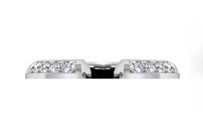 Angled Diamond Fitted Wedding Ring 4