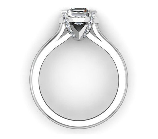Asscher Cut Diamond Halo Engagement Ring 3 2