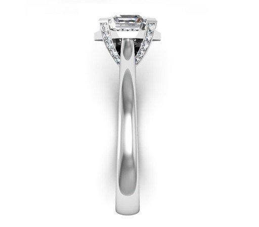 Asscher Cut Diamond Halo Engagement Ring 5 2