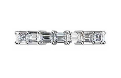 Baguette claw set diamond wedding ring 2