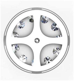 Bezel Set Halo Earrings 3 2