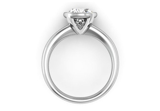 Bezel Set Solitaire Diamond Engagement Ring 3 2
