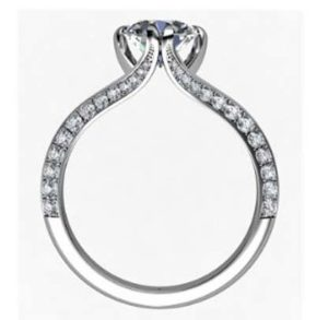 Brilliant Cut Round Diamond Engagement Ring with Split Shank 3 2