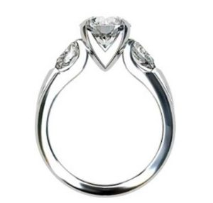 Brilliant Cut Round Diamond Three Stone Engagement Ring 3 2