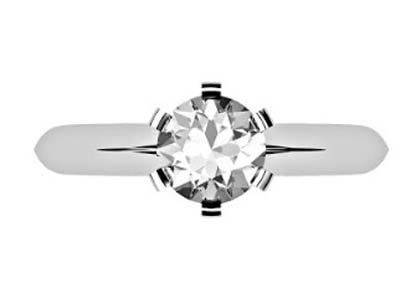 Brilliant Cut Round Solitaire Diamond Engagement Ring with Six Prongs 2 2