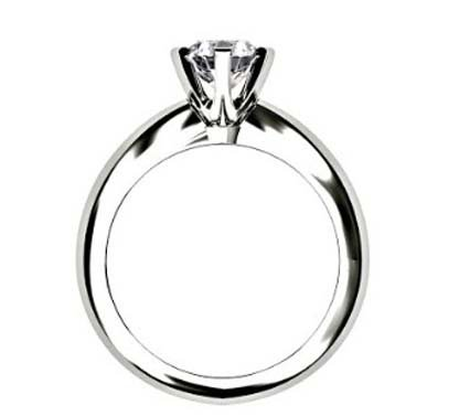 Brilliant Cut Round Solitaire Diamond Engagement Ring with Six Prongs 3 2