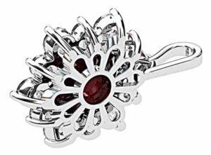 Cabochon Ruby with Diamond Petal Pendant 3 2
