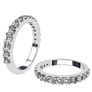 Carre Cut Diamond Half Eternity Band 1