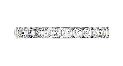 Carre Cut Diamond Half Eternity Band 2