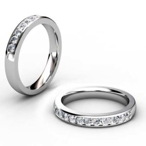 Channel Set Diamond Half Wedding Band 1
