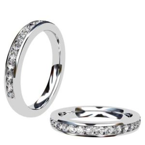 Channel Set Round Half Eternity Band 1
