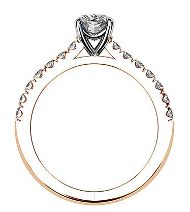 Clasic Oval and Diamond Solitaire Set in Rose Gold 3 2