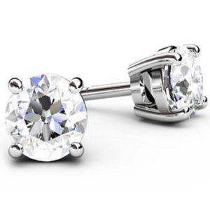Classic Solitaire Diamond Earrings 1 1 2