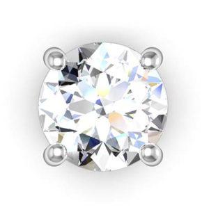 Classic Solitaire Diamond Earrings 2 2