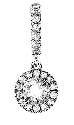 Clip on Round Brilliant Cut Diamond Earrings 2 2