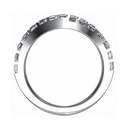 Cross over carre cut diamond ring 3