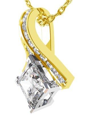 Crossover Princess Cut Diamond Pendant 2 2