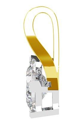 Crossover Princess Cut Diamond Pendant 3 2