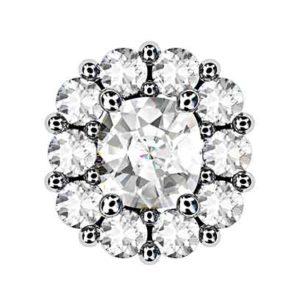 Cushion Cut Diamond Cluster Stud Earrings 2 2