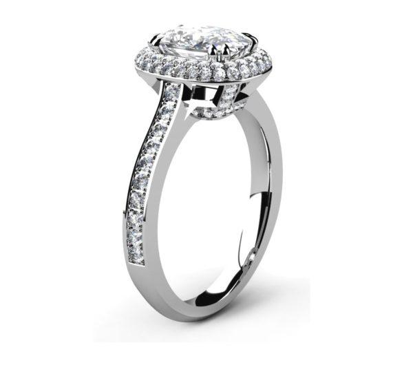Cushion Cut Diamond Double Halo Engagement Ring 4 2