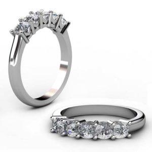 Cushion Cut Diamond Engagement Ring 1 2