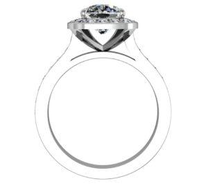 Cushion Cut Diamond Halo Engagement Ring 3 2