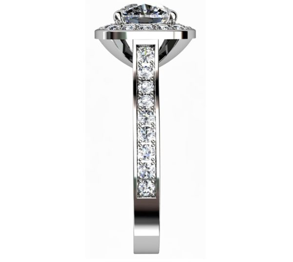 Cushion Cut Diamond Halo Engagement Ring 5 2