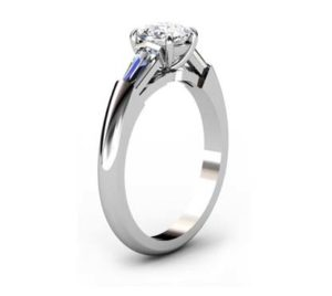 Cushion Cut Diamond Three Stone Engagement Ring 4 2