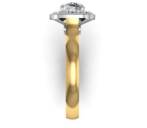 Cushion Cut Yellow Gold Halo Engagement Ring 5 2