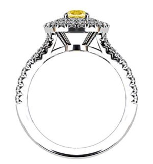 Cushion Yellow Diamond Ring with Double Halo 3 2