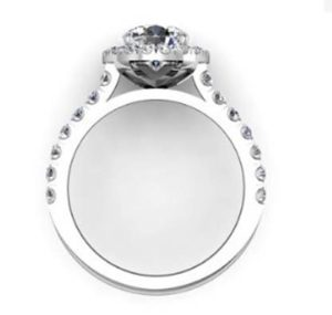 Custom Made Round Brilliant Cut Diamond Halo Engagement Ring 3 2