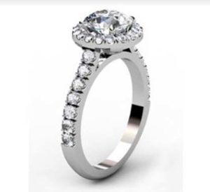 Custom Made Round Brilliant Cut Diamond Halo Engagement Ring 4 2