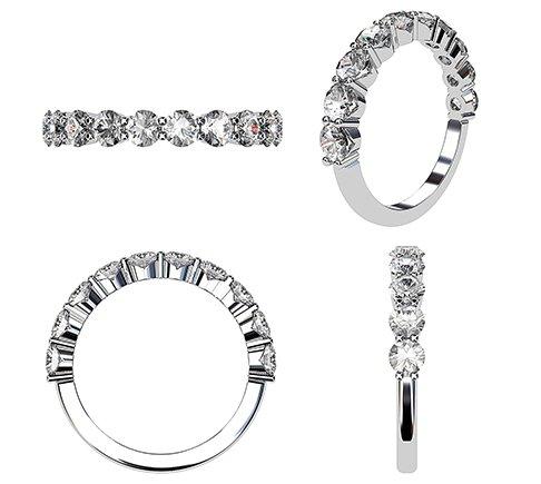 Custom wedding ring 3D drawing 1 2