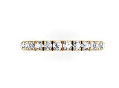 Cut Down Diamond Half Eternity Wedding Ring in Yellow Gold 2